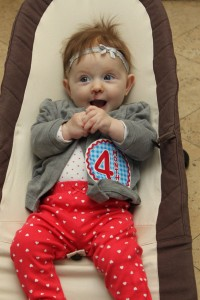 4 months old today!